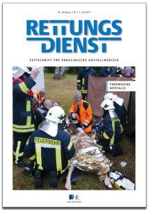 Titelbild Rettungsdienst 7/2018, Quelle: S&K-Verlag